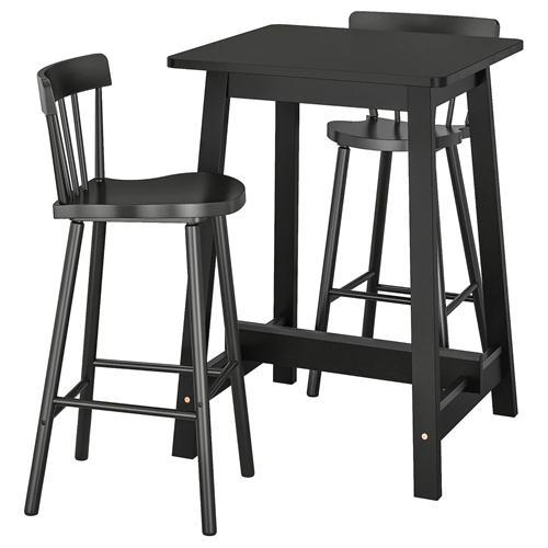 北欧简约实木酒吧吧台高脚椅