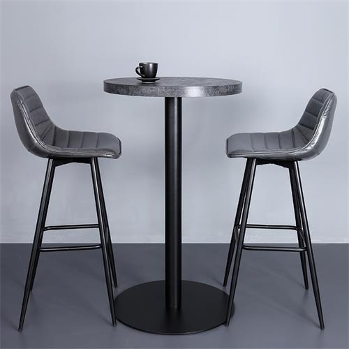 现代风格酒吧时尚大理石高吧台吧椅家具
