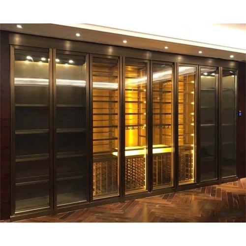 星级酒店现代时尚钛金不锈钢酒柜_KTV不锈钢酒柜酒窖