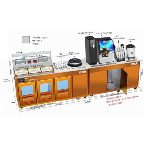 小叫天餐厅调料台自助智能酱料台