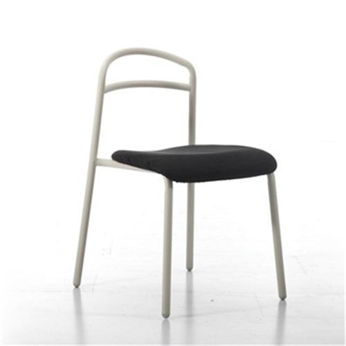 北欧咖啡厅简约现代不锈钢管餐椅