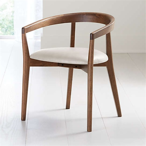 咖啡馆日式简约实木围椅