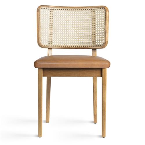 咖啡馆经典休闲实木藤编椅