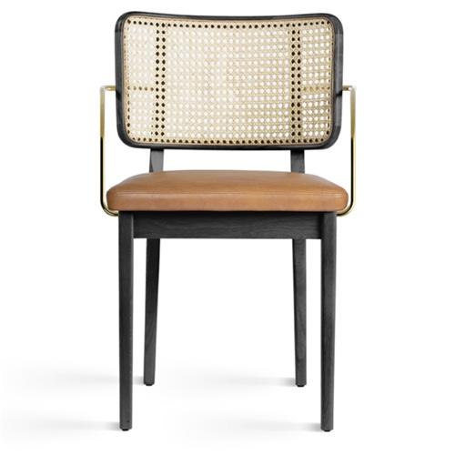 北欧咖啡厅休闲靠背藤条椅子