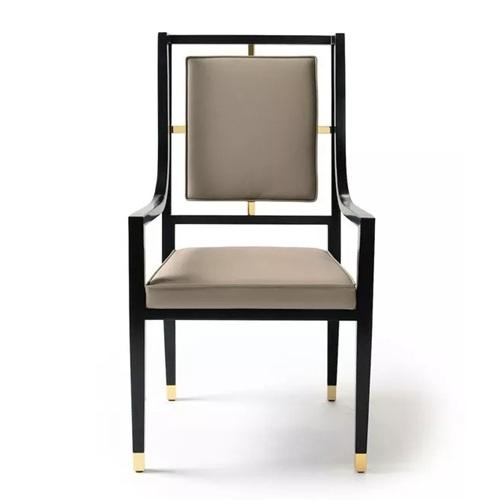 现代中式高档酒店会所轻奢椅子家具