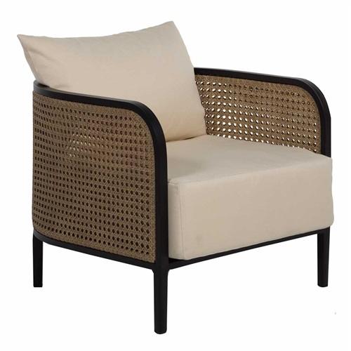 咖啡厅中式实木藤条布艺软包椅子