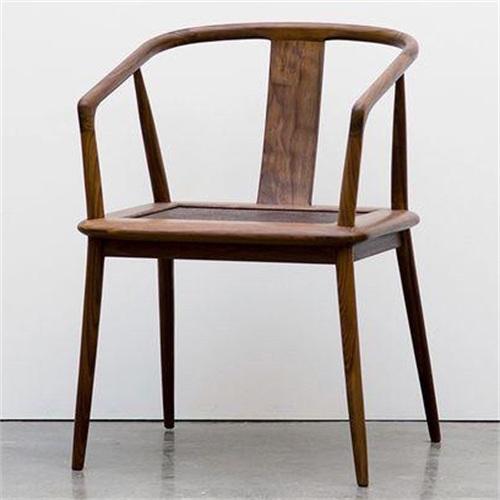 咖啡馆中式水曲柳实木咖啡椅子
