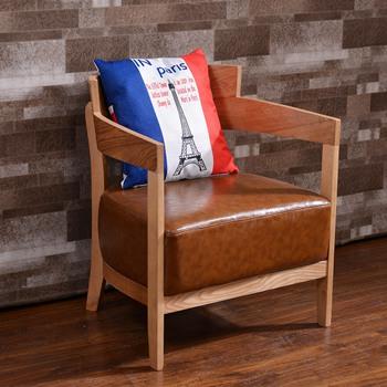 咖啡馆实木椅子_美式乡村咖啡厅餐桌椅组合-厂家定制