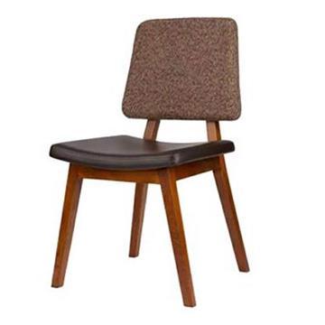 实木简约靠背咖啡厅白蜡木 时尚PU软包椅休闲椅