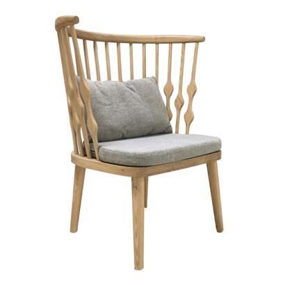 北欧围椅实木温莎圈椅 白橡木咖啡店铺椅子