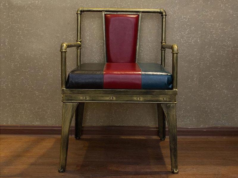 时尚休闲咖啡椅_铁艺实木复古咖啡椅_美式乡村咖啡椅子