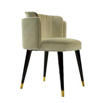 新中式实木布艺店咖啡厅餐椅