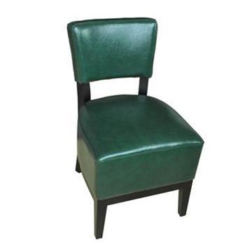 简约实木休闲皮革咖啡店椅子