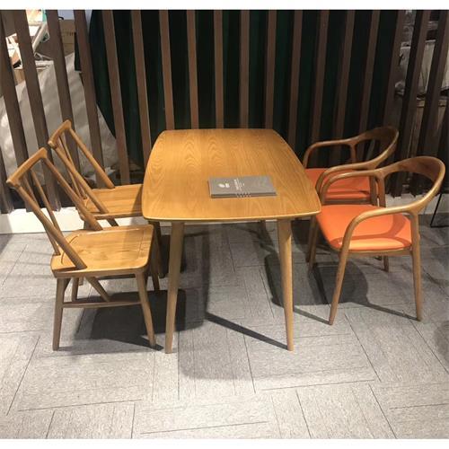 现代简约休闲茶几_咖啡厅奶茶店休闲实木原木桌椅-厂家直销