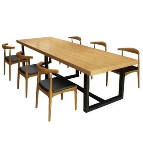 咖啡厅实木长方桌椅_简约咖啡厅休闲桌椅_铁艺咖啡厅桌椅