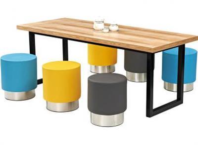 北欧风咖啡厅桌椅_咖啡店休闲桌椅_咖啡馆实木桌椅