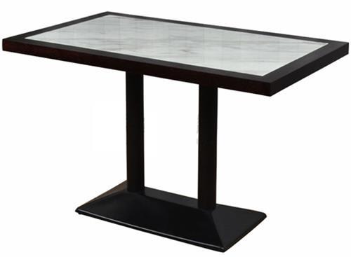 咖啡店休闲实木桌椅_简约咖啡厅西餐厅大理石桌子