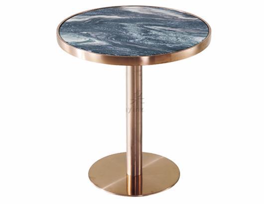 咖啡厅奶茶店不锈钢大理石yabo娱乐 _咖啡馆休闲桌椅