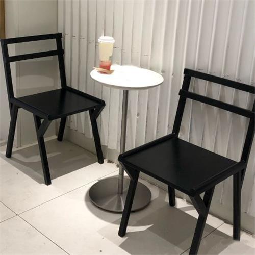 2019最新款休闲奶茶店桌子椅子