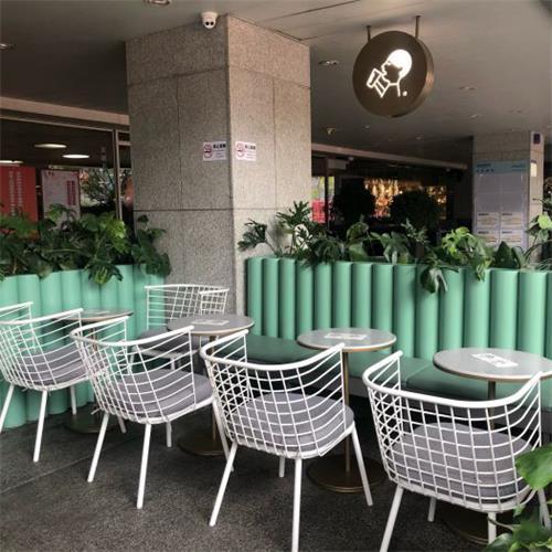 休闲奶茶店简约桌椅_奶茶店桌子哪里买