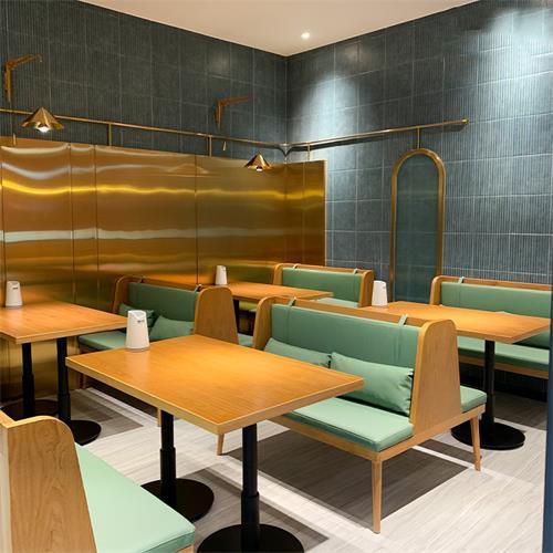 奶茶咖啡厅甜品店快餐店实木桌椅卡座定制