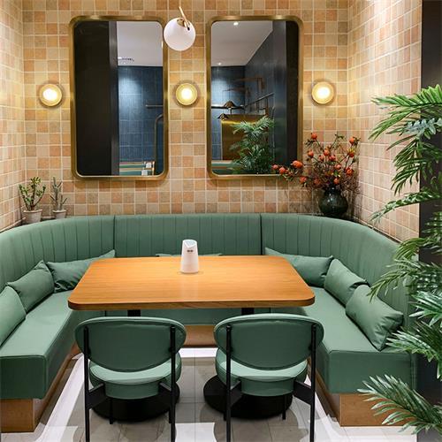 小清新奶茶咖啡厅甜品店快餐店实木桌椅