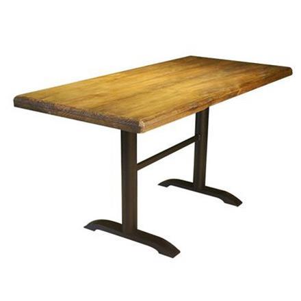 胡桃里美式乡村复古咖啡店实木餐桌