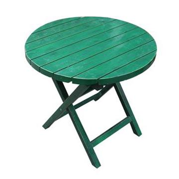 咖啡厅圆形可折叠简易餐桌