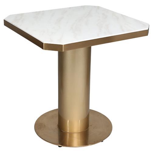 不锈钢大理石咖啡桌现代简约小餐台