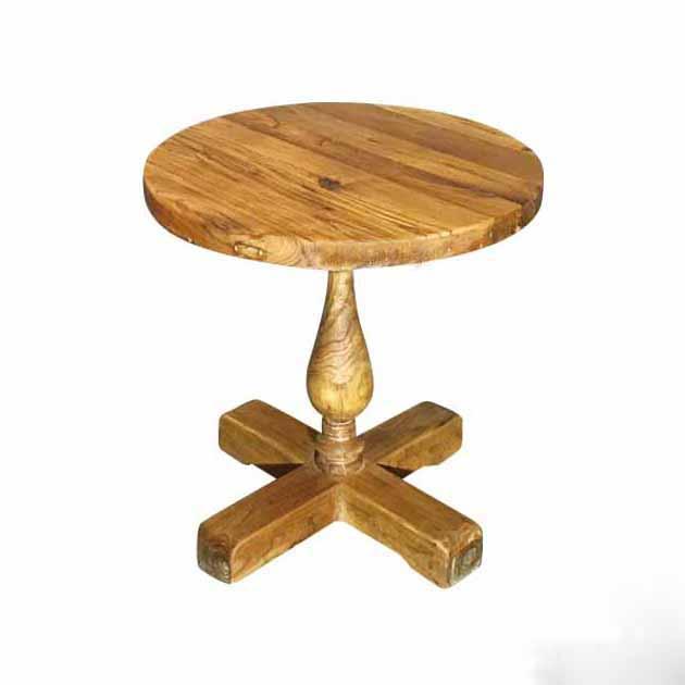 漫咖啡家具复古怀旧老榆木咖啡厅原木实木圆桌