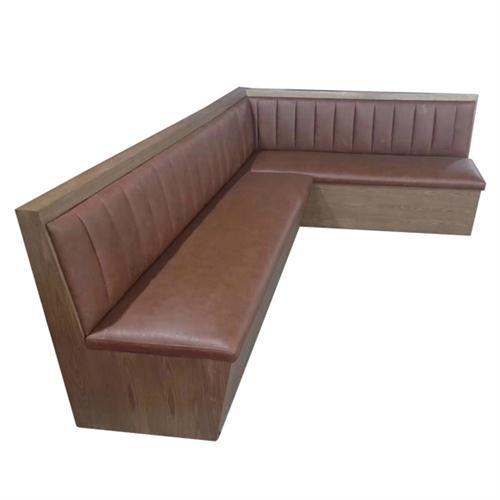 复古酒吧餐厅卡座沙发