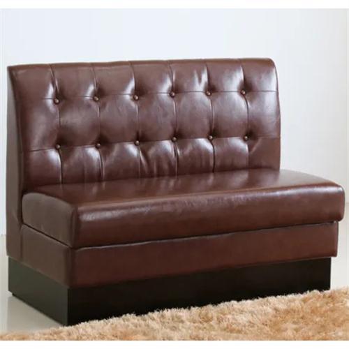 轻奢皮艺咖啡店卡座沙发