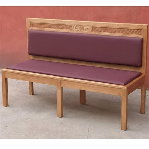 新款咖啡厅西餐厅实木卡座沙发
