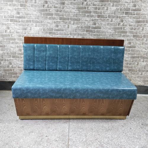 西餐厅茶餐厅休闲实木卡座沙发家具组合