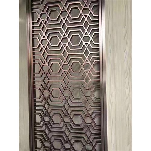 红古铜不锈钢满焊屏风隔断_不锈钢屏风厂家定制