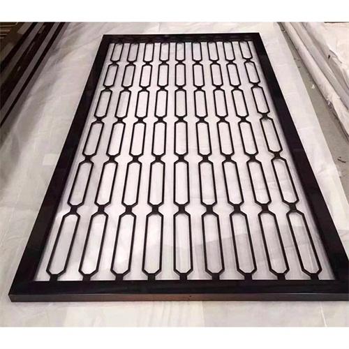 拉丝黑色钛金不锈钢屏隔断现代风格厂家生产