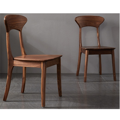 日本料理店经典简约风格实木靠背椅