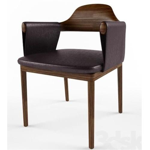 日式寿司店轻奢皮革时尚实木餐椅