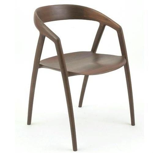 日式火锅店餐厅现代简约实木靠背椅