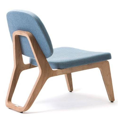日式餐厅现代创意布艺实木椅子