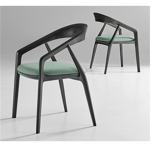 日本料理店现代创意简约实木圈椅