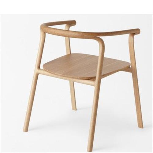 日式拉面店休闲时尚全实木圈椅