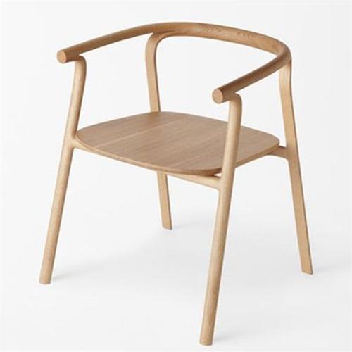 日式自助餐厅现代休闲实木用餐椅