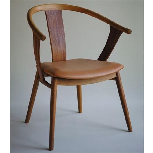日料店创意个性皮革软包休闲椅子
