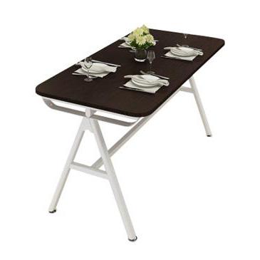 现代简约长方形食堂餐桌