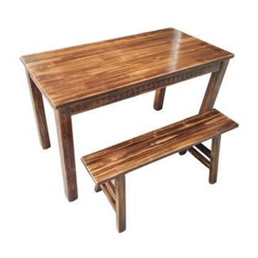 实木八仙桌椅 食堂中式餐桌椅组合
