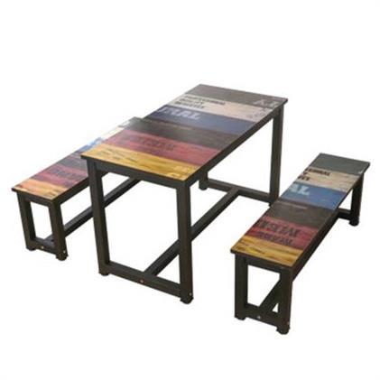 饭店食堂餐厅一桌二四椅组合