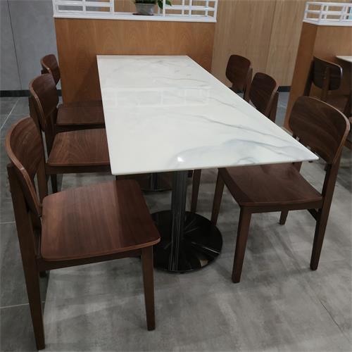 学校食堂桌椅_工厂食堂桌椅_快餐店大理石桌椅