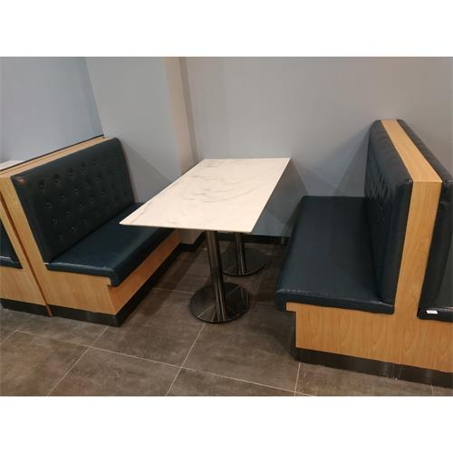 食堂快餐店4人位大理石桌椅