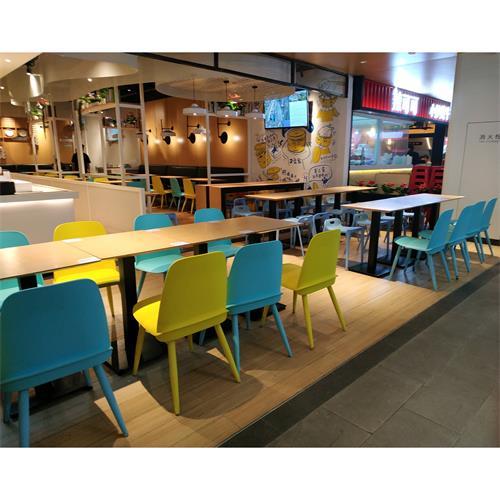 食堂餐厅桌椅_饭店桌椅快餐厅实木桌椅